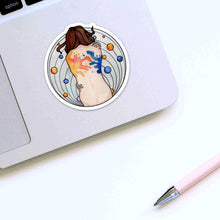 Load image into Gallery viewer, Embraced - Self Care Inspired Watercolor - Die Cut Vinyl Sticker