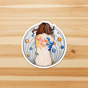 Embraced - Self Care Inspired Watercolor - Die Cut Vinyl Sticker