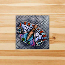 Load image into Gallery viewer, I Have My Eyes on You - Moth Inspired Watercolor Painting - Square Vinyl Sticker