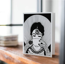 Load image into Gallery viewer, Fancy, Inktober Day 7- Handmade Notecard