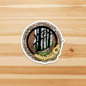 Feeling Sluggish in the PNW - Banana Slug Inspired Watercolor - Die Cut Vinyl Sticker