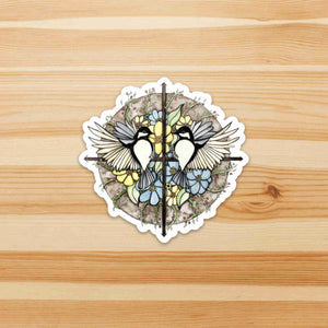 Finding Direction - Compass Inspired Watercolor - Die Cut Vinyl Sticker
