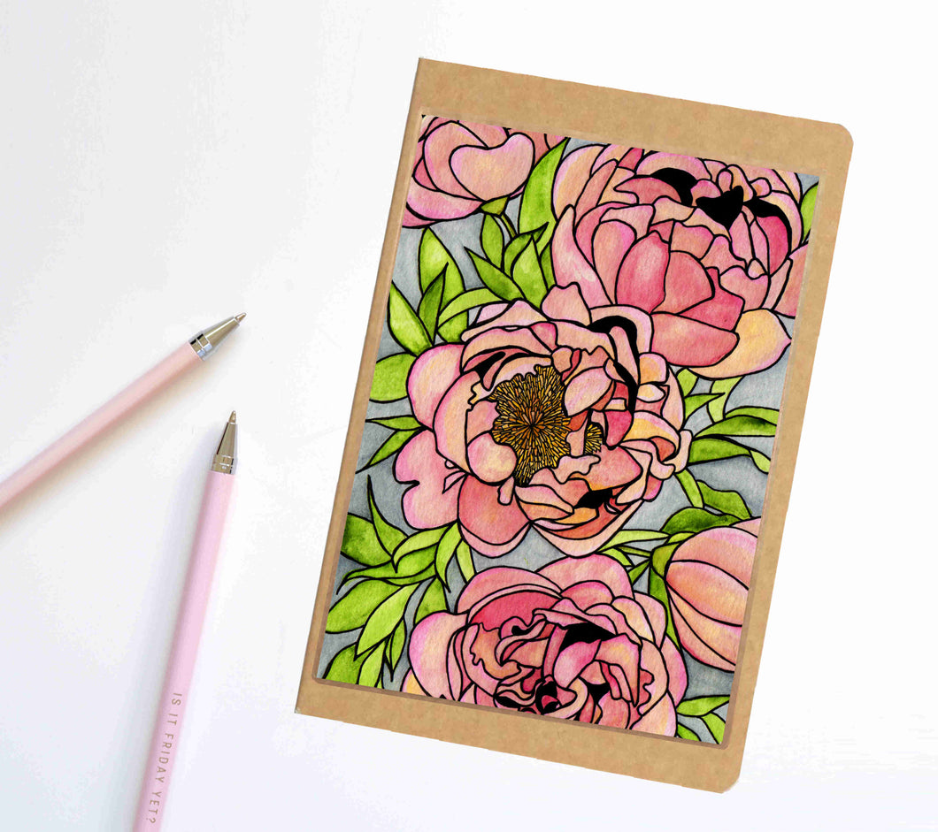 Floral Carpet, Nature Inspired Notebook / Sketchbook / Journal