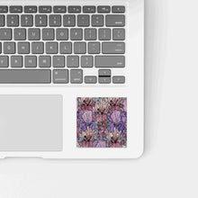 Load image into Gallery viewer, Floral Repetition - Flower Inspired Watercolor Painting - Square Vinyl Sticker