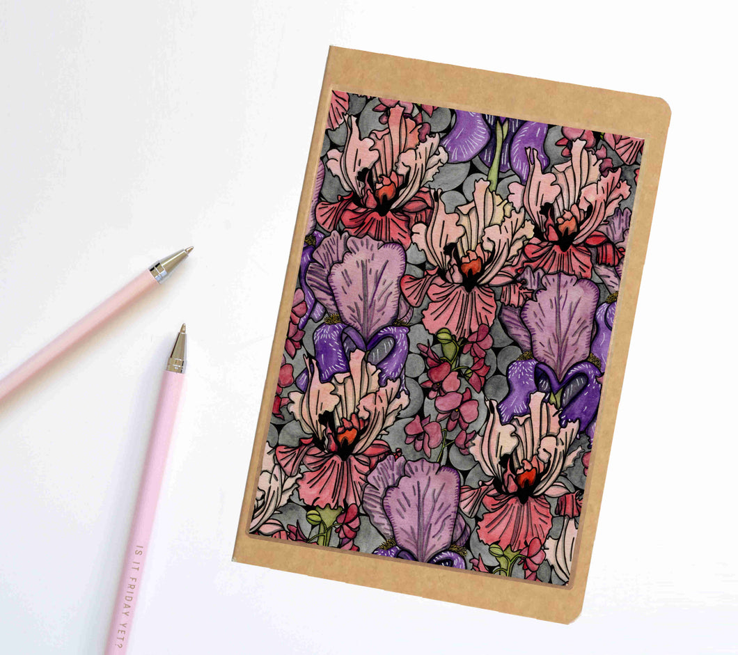 Floral Repetition, Tessellation Inspired Notebook / Sketchbook / Journal