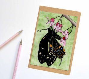 Flutterbye, Butterfly Inspired Notebook / Sketchbook / Journal