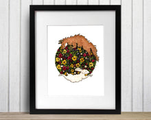 Load image into Gallery viewer, Fox and the Hare - Folk Art Inspired Watercolor Painting - Art Print