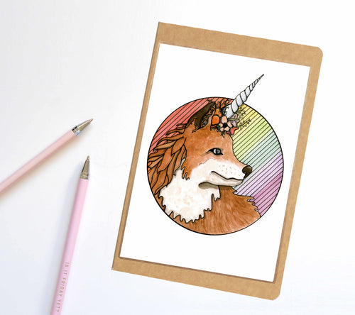 Foxicorn, Unicorn Horn Inspired Notebook / Sketchbook / Journal