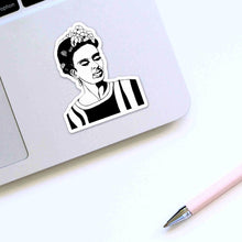 Load image into Gallery viewer, Frida - Artist Inspired Ink Drawing - Die Cut Vinyl Sticker