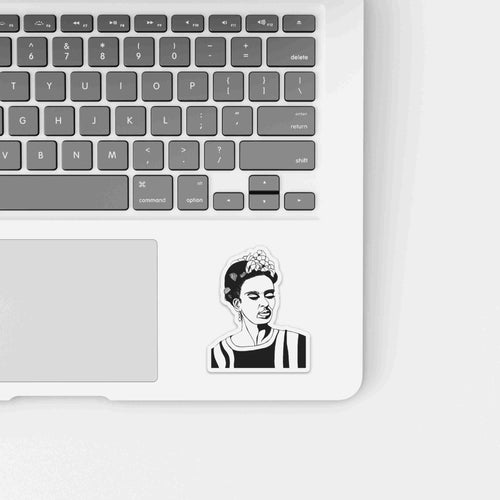 Frida - Artist Inspired Ink Drawing - Die Cut Vinyl Sticker