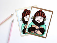 Load image into Gallery viewer, Gifts - Storybook Inspired Watercolor Art Print - Handmade Note Card