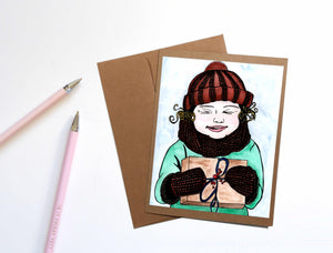 Gifts - Storybook Inspired Watercolor Art Print - Handmade Note Card