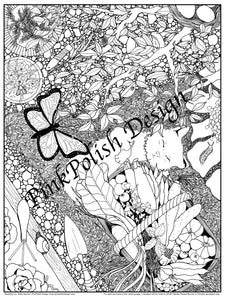 "Lazy Garden Days - 18""x24"" Poster Coloring Page"