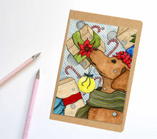 Load image into Gallery viewer, Holiday Expectations, Dog Inspired Notebook / Sketchbook / Journal