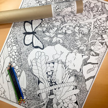 "Load image into Gallery viewer, Lazy Garden Days - 18""x24"" Poster Coloring Page"