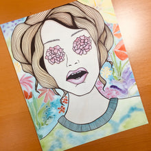 Load image into Gallery viewer, Flower Power - Floral Inspired Original Watercolor & Ink Illustration