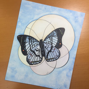 Brilliance - Butterfly Inspired Original Watercolor & Ink Illustration