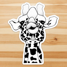 Load image into Gallery viewer, Kissy Face - Giraffe Inspired Ink drawing - Giant Vinyl Die Cut Sticker
