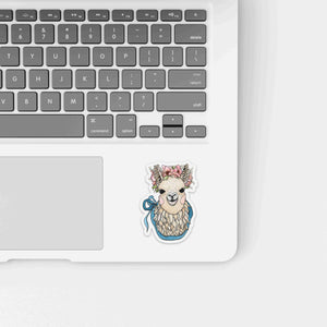 Mama Llama - Cute Animal Inspired Watercolor - Die Cut Vinyl Sticker