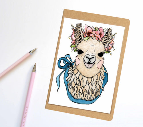 Mamma Llama, Cute Animal Inspired Notebook / Sketchbook / Journal