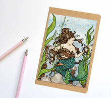 Load image into Gallery viewer, Mermaid Cove, Fantasy Inspired Notebook / Sketchbook / Journal - L