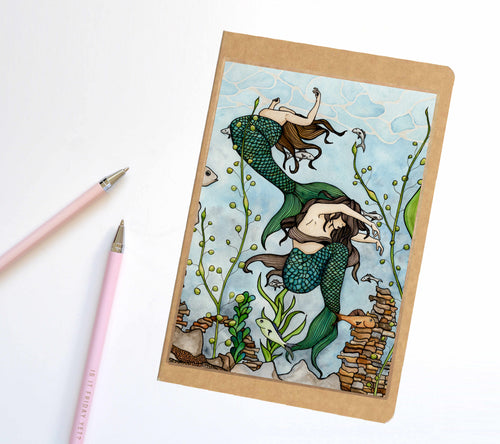 Mermaid Cove, Fantasy Inspired Notebook / Sketchbook / Journal - R