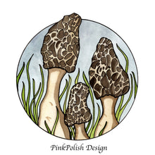 Load image into Gallery viewer, Morel Mushrooms -Fungi Inspired Watercolor - Art Print