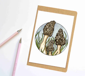 Morel Mushrooms, Fungi Inspired Notebook / Sketchbook / Journal