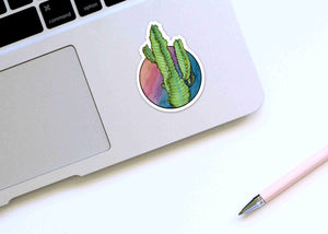 Prickles the Cactus - Succulent Inspired Watercolor - Die Cut Vinyl Sticker
