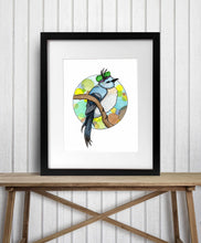 Load image into Gallery viewer, Ms Finch - Woodland Creature Watercolor Painting - Art Print