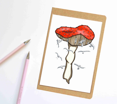 Mushroom Magic, Fungi Inspired Notebook / Sketchbook / Journal
