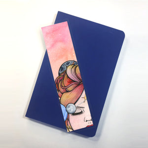 Orbit, 2-Sided Bookmark - Sun Goddess Inspired Watercolor Painting Art Print