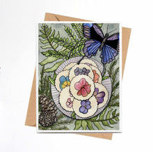 Load image into Gallery viewer, Pansy Shortbread,  Confections Inspired Watercolor Print - Handmade Note Card