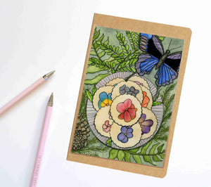 Pansy Shortbread, Confections Inspired Notebook / Sketchbook / Journal
