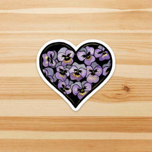 Load image into Gallery viewer, Pansy Valentine - Floral Inspired Watercolor - Die Cut Vinyl Sticker