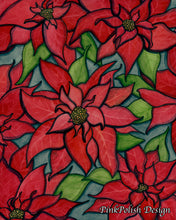 Load image into Gallery viewer, Poinsettia - Holiday Floral Watercolor Painting - Art Print