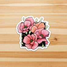 Load image into Gallery viewer, Poppies - Floral Inspired Watercolor - Die Cut Vinyl Sticker