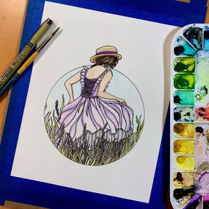 Prairie - Nature Inspired Original Watercolor & Ink Illustration