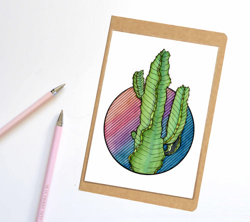 Prickles the Cactus, Succulent Inspired Notebook / Sketchbook / Journal