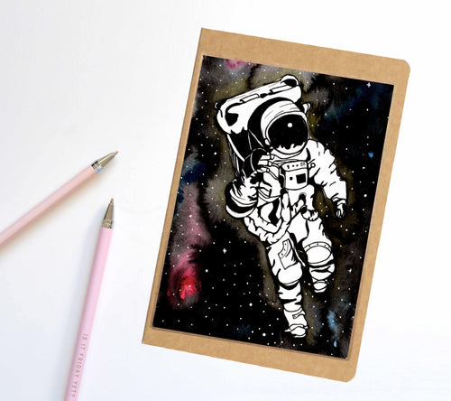 Q in Space, Astronaut Inspired Notebook / Sketchbook / Journal