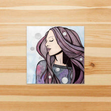 Load image into Gallery viewer, Shake It Off - Fashion Inspired Watercolor Painting - Square Vinyl Sticker