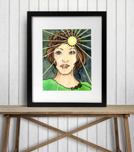 Load image into Gallery viewer, Shine Bright - Strong Woman Inspired Watercolor Painting - Art Print