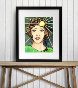 Shine Bright - Strong Woman Inspired Watercolor Painting - Art Print