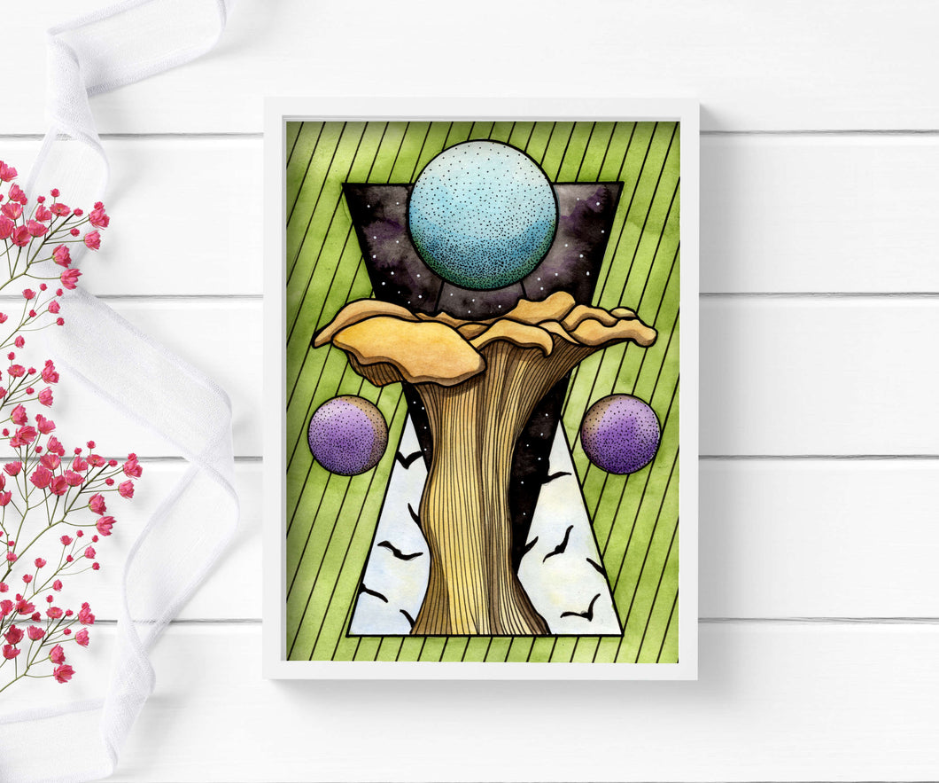 Solstice - Mushroom Inspired Watercolor - Art Print