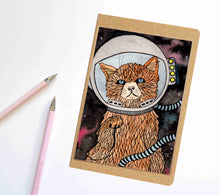 Load image into Gallery viewer, Space Kitty, Cat Inspired Notebook / Sketchbook / Journal