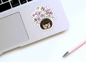 Sweet Pea - Hedgehog Inspired Watercolor - Die Cut Vinyl Sticker