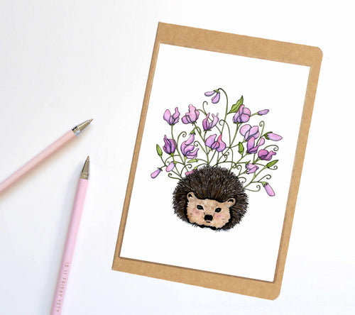 Sweet Pea, Hedgehog Inspired Notebook / Sketchbook / Journal