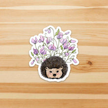 Load image into Gallery viewer, Sweet Pea - Hedgehog Inspired Watercolor - Die Cut Vinyl Sticker