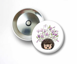 Sweet Pea- Cute Hedgehog Inspired Watercolor Art Print - 2.25 Inch Refrigerator Magnet