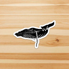 Load image into Gallery viewer, Humpback Whale - Sea Life Inspired Ink Drawing Die Cut Vinyl Sticker